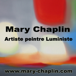 Logo Mary Chaplin, artiste peintre luministe