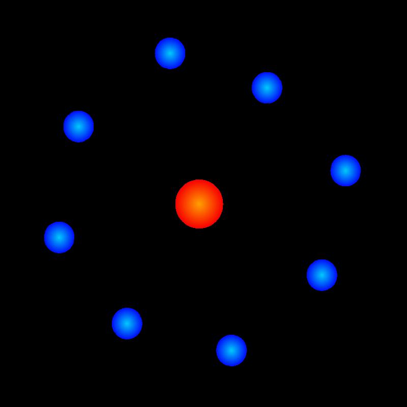 Atom Model de Logomancer (openclipart.org)
