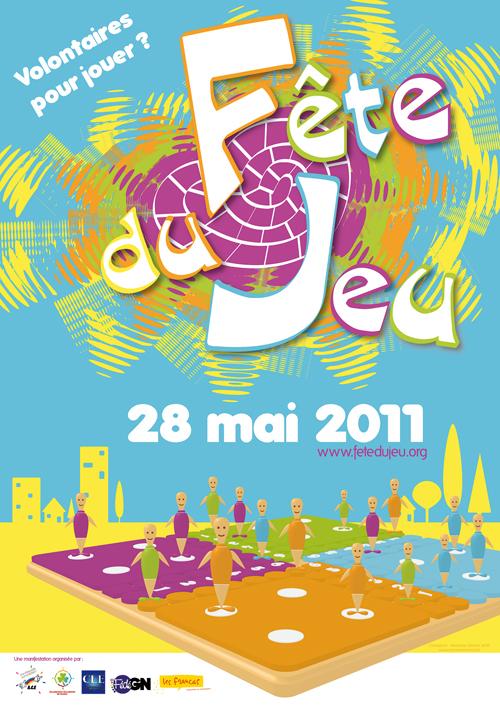 Affiche de la Fête du jeu : 28 mai 2011