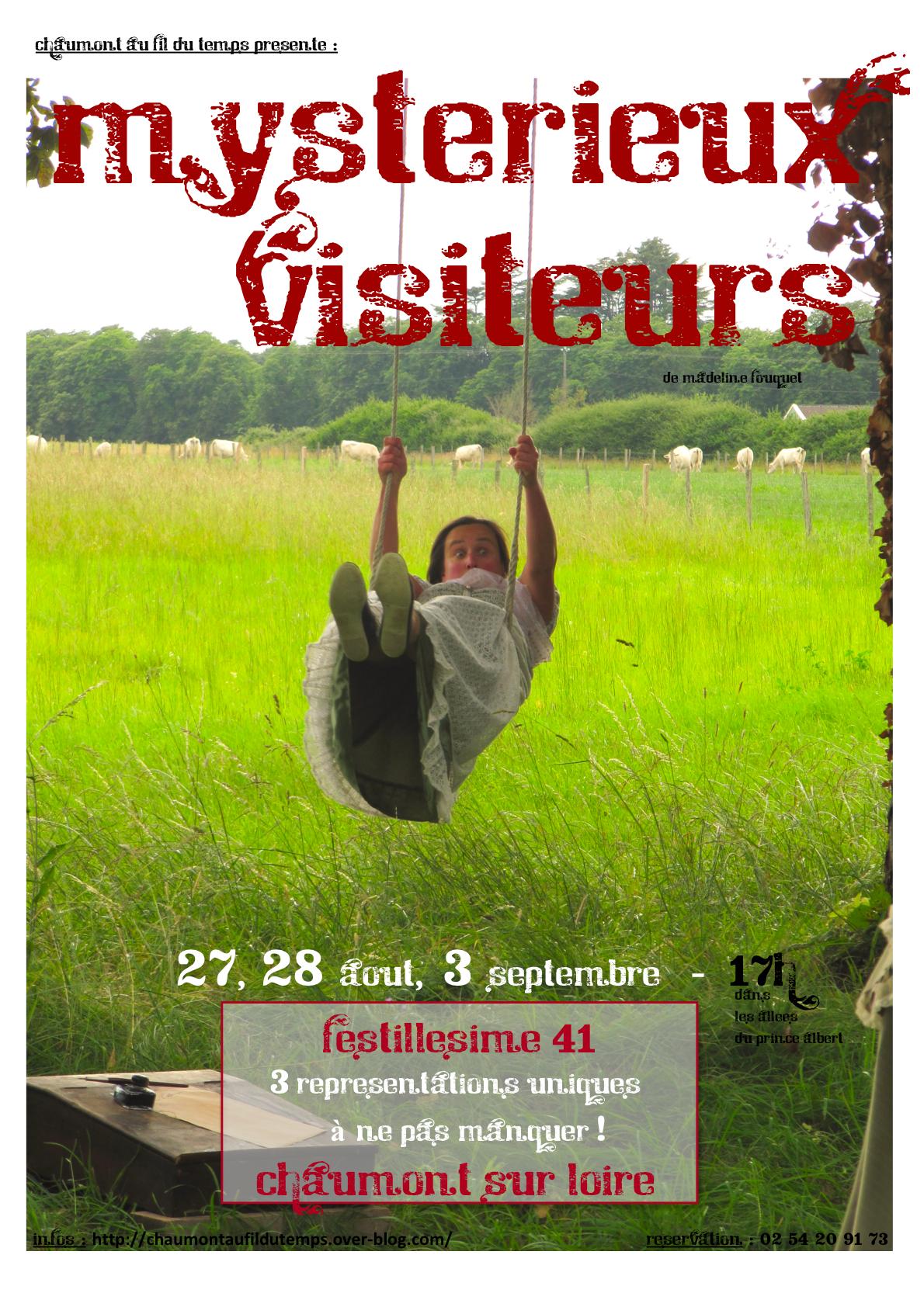 affiche Mysterieux Visiteurs de Madeline Fouquet