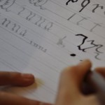 Minna : 1er cours de Calligraphie avec Julien