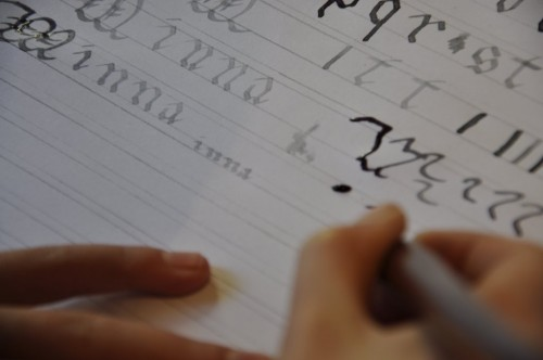 Minna : 1st Calligraphy course with Julien