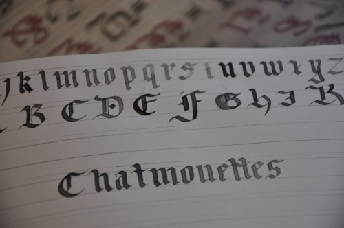 1st Calligraphy course with Julien
