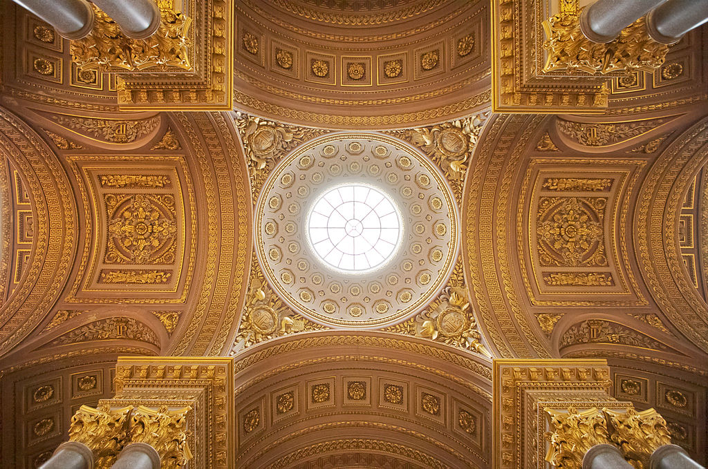Partie centrale du plafond de la galerie des Batailles au château de Versailles