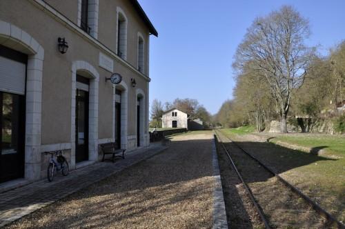 Station of the touristic train of Thoré-la-Rochette