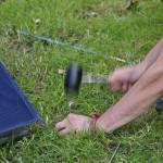 Montage de tente au camping d'Amboise