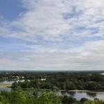 Vue panoramique sur le confluent de la Loire et de la Vienne