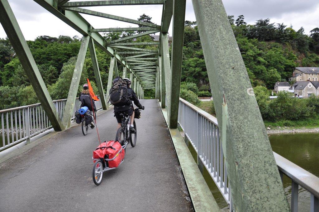Pont pour quitter l'île de Chalonnes