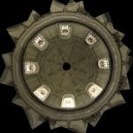 Plafond du dôme de Notre Dame des Ardilliers