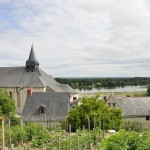 Église de Candes-st-Martin vue des hauteurs