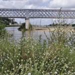 Pont ferroviaire à l'arrivée de Saumur